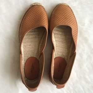 RAG & BONE TAN LEATHER ESPADRILLES SZ 36 EUC